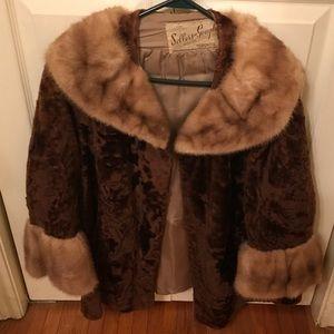 Jackets & Blazers - Vintage mink coat. Removable collar . E.S.T 1880.